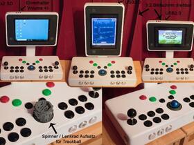 Retro Arcade Maschine fertig-> Frontendlösung gesucht